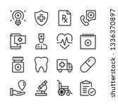 medical assistance line icons... | Shutterstock .eps vector #1336370897