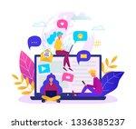 communication via internet... | Shutterstock .eps vector #1336385237