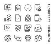 checkmarks line icons set.... | Shutterstock .eps vector #1336388741