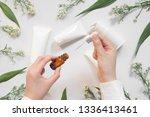 serum or essential oil w ... | Shutterstock . vector #1336413461