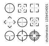 different icon set of targets... | Shutterstock .eps vector #1336414001