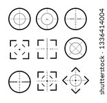 different icon set of targets... | Shutterstock .eps vector #1336414004