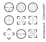 different icon set of targets... | Shutterstock .eps vector #1336414007