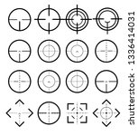 different icon set of targets... | Shutterstock .eps vector #1336414031