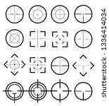 different icon set of targets... | Shutterstock .eps vector #1336414034
