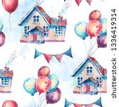 watercolor fantasy house and... | Shutterstock . vector #1336419314