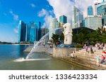 marina bay  singapore   may 13  ... | Shutterstock . vector #1336423334