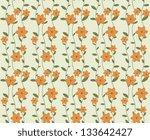 seamless floral pattern | Shutterstock .eps vector #133642427