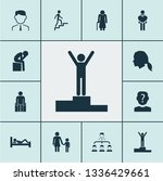people icons set with winner ... | Shutterstock .eps vector #1336429661