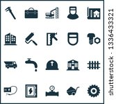 industrial icons set with... | Shutterstock .eps vector #1336433321