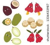 cute fruits character | Shutterstock .eps vector #1336433987
