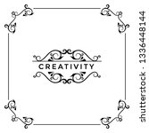 greeting card  template design   | Shutterstock .eps vector #1336448144