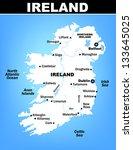 vector map of ireland with... | Shutterstock .eps vector #133645025