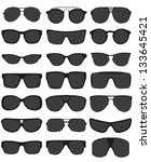 Glasses And Sunglasses Vector...