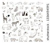 animals of the world... | Shutterstock .eps vector #1336454591