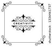 flourish border  template... | Shutterstock .eps vector #1336461737