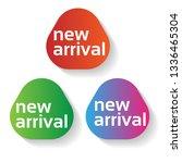 new arrival label  | Shutterstock .eps vector #1336465304