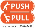 push and pull  vector... | Shutterstock .eps vector #1336465451