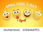 april fool s day card   crazy... | Shutterstock .eps vector #1336466951