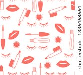 vector seamless pattern with... | Shutterstock .eps vector #1336468664