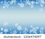 winter snowflakes border... | Shutterstock .eps vector #1336474097
