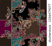 seamless colorful paisley... | Shutterstock .eps vector #1336479077