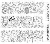 cinema pattern with vector... | Shutterstock .eps vector #1336487141