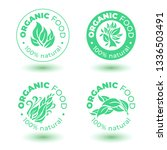 vector set of  green design... | Shutterstock .eps vector #1336503491