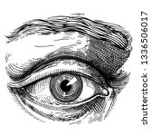 eye. eye antique engraving... | Shutterstock .eps vector #1336506017