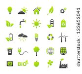 ecology icons set | Shutterstock .eps vector #133653041