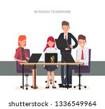 business people teamwork office ... | Shutterstock .eps vector #1336549964