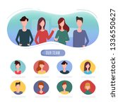 online recruitment human... | Shutterstock .eps vector #1336550627