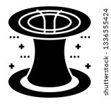 glyph icon of flying saucer  | Shutterstock .eps vector #1336555424
