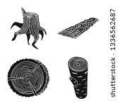 vector design of hardwood  and... | Shutterstock .eps vector #1336562687