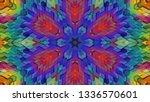 geometric design  isometric... | Shutterstock .eps vector #1336570601