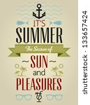 summer holidays and travel... | Shutterstock .eps vector #133657424