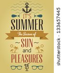 summer holidays and travel... | Shutterstock .eps vector #133657445