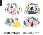 technology 1 set   modern flat... | Shutterstock .eps vector #1336580714
