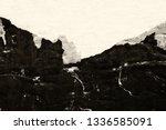 blank brown beige creased... | Shutterstock . vector #1336585091