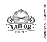 tailor shop vintage isolated... | Shutterstock .eps vector #1336591604