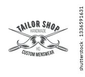 tailor shop vintage isolated... | Shutterstock .eps vector #1336591631