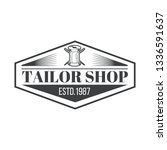 tailor shop vintage isolated... | Shutterstock .eps vector #1336591637