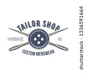 tailor shop vintage isolated... | Shutterstock .eps vector #1336591664