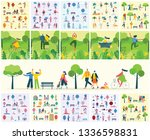 vector nature eco backgrounds... | Shutterstock .eps vector #1336598831