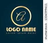 letter a gold logo concept....