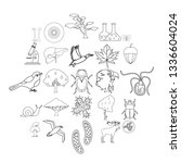 fauna icons set. outline set of ... | Shutterstock .eps vector #1336604024