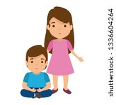 mother with son characters | Shutterstock .eps vector #1336604264