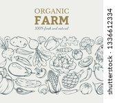 different vegetables vector... | Shutterstock .eps vector #1336612334