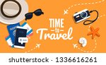 concept of travelling with the... | Shutterstock .eps vector #1336616261