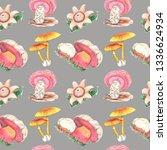 watercolor seamless pattern... | Shutterstock . vector #1336624934